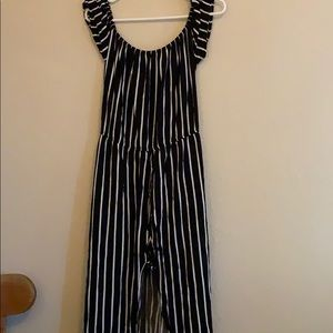 Romper with long skirt attached